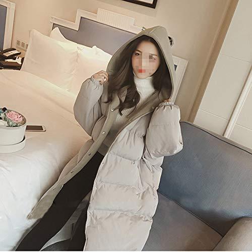 Grande Manteau 200 Automne D'automne Clothes 2018 Femmes Vrac Kg Veste D'hiver En De Coton Le Long Vêtements Gris Taille Dans Paragraphe wqptZpYT