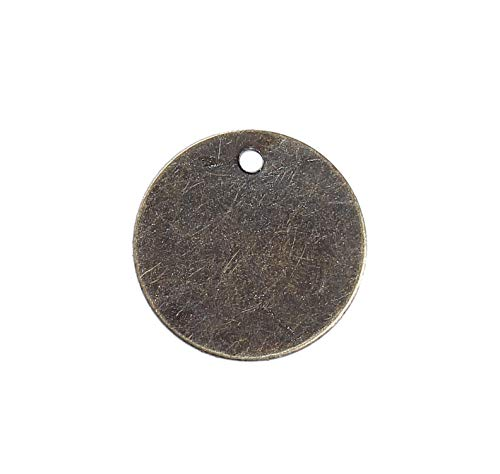 300 Antique Bronze Tone 3/8 Inch Metal Blanks Round Circle Metal Stamping Blank and Crafting Tags 8mm Diameter Stamping Blanks