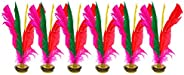 Bleiou 6 Pack Chinese Jianzi Colorful Feather Kicking Shuttlecock Foot Sports Toy Game