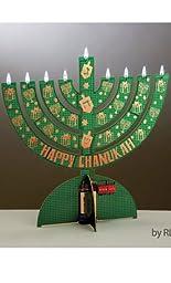 Electric LED Cardboard Environment Friendly Hanukkah Chanukah Menorah