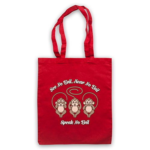 See No Evil Cute Icon amp; Clothing Bolso Hear Art Monkeys Red My Speak nwBXaqIw