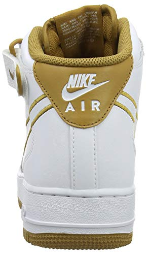 de 101 Force '07 Multicolore Muted Bronze Air Homme Nike 1 White Mid Fitness Chaussures LTHR W60UWwqRn