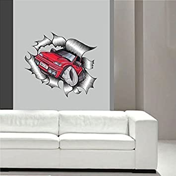 KOOLART Cartoon Ripped Torn Metal diseño para MK3 Ford Fiesta RS Turbo RST adhesivo decorativo para
