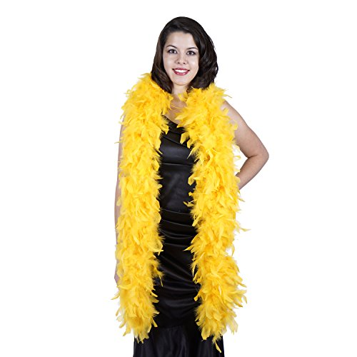 Zucker Feather Products Heavy Weight Decorative Chandelle Boa, Gold]()