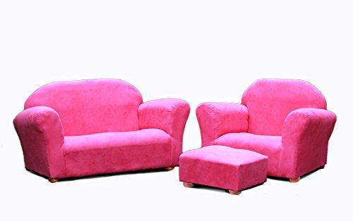 Keet Roundy Microsuede Children's Chair, Sofa and Ottoman Se