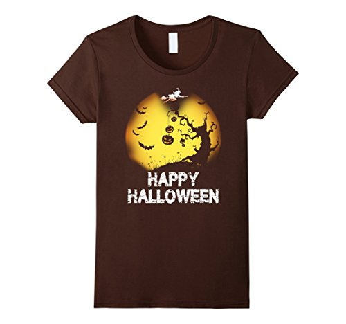 Womens Happy Halloween 2017 Hot trend Gift T-shirt XL (2017 Trends For Halloween)