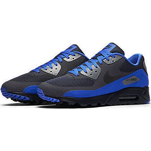 new arrival e8ad0 b2cea Galleon - Nike 819474-403 Men s Air Max 90 Ultra Essential Running Shoes,  Dark Obsidian Black Hyper Cobalt White, 8 M US