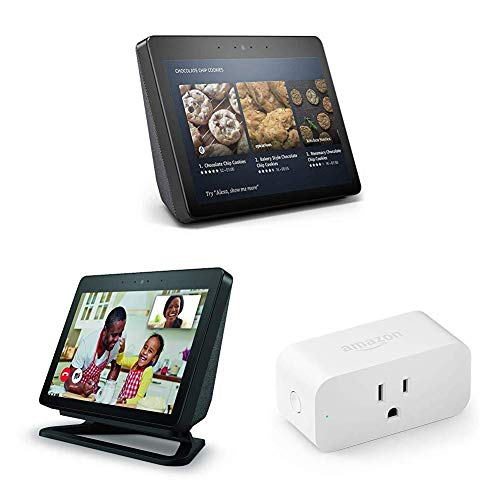 Echo Show (2nd Gen) + Echo Show Adjustable Stand + Amazon Smart Plug Bundle