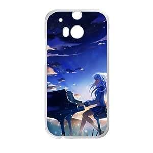 HTC One M8 Phone Case Cover White Angel Beats 06 EUA15968098 Phone Case Clear Custom