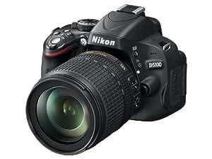 """Nikon D5100 - Cámara réflex digital de 16 Mp (pantalla 3"""", estabilizador, vídeo Full HD), color negro - kit con objetivo AF-S DX 18-105mm VR [importado]"""