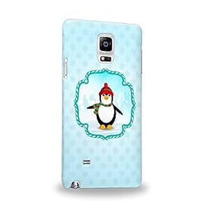Case88 Premium Designs Art Christmas Classics Series Christmas Penguin Carcasa/Funda dura para el Samsung Galaxy Note 4