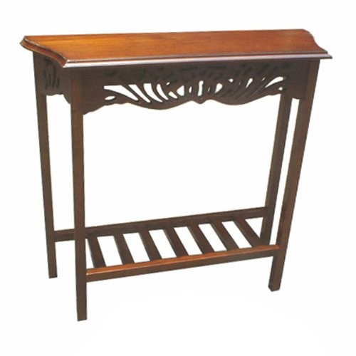 D-Art Collection Serenity Entry Wall Hall Console End Table Mahogany Finish