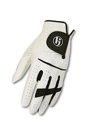 HJ Glove Men's Gripper II Golf Glove, Left Hand, Large, Snow (Mens Gripper Gloves)