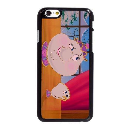 Schöne und das Biest Frau Potts iPhone 6 6S plus 5,5 Zoll-Handy-Fall Hülle schwarz P4K4MJNPOF