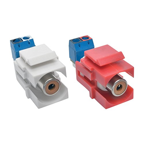 Tripp Lite RCA Female Audio to Screw Terminal Keystone Jack Kit Red/White (A050-000-ST-KJ)