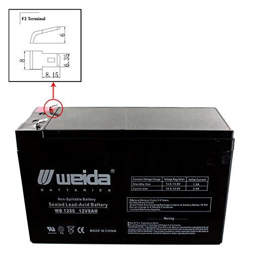 New 12V 8Ah Sla Battery Wb1280f2 Replaces Ub1280  Ps1280  Wka12 8F Usa Free Ship
