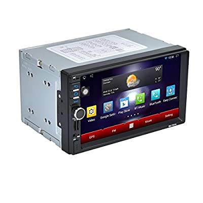 Veepola 7 2Din Stereo Car Android MP5 Player Bluetooth Radio AM/FM/RDS/GPS/USB/SD