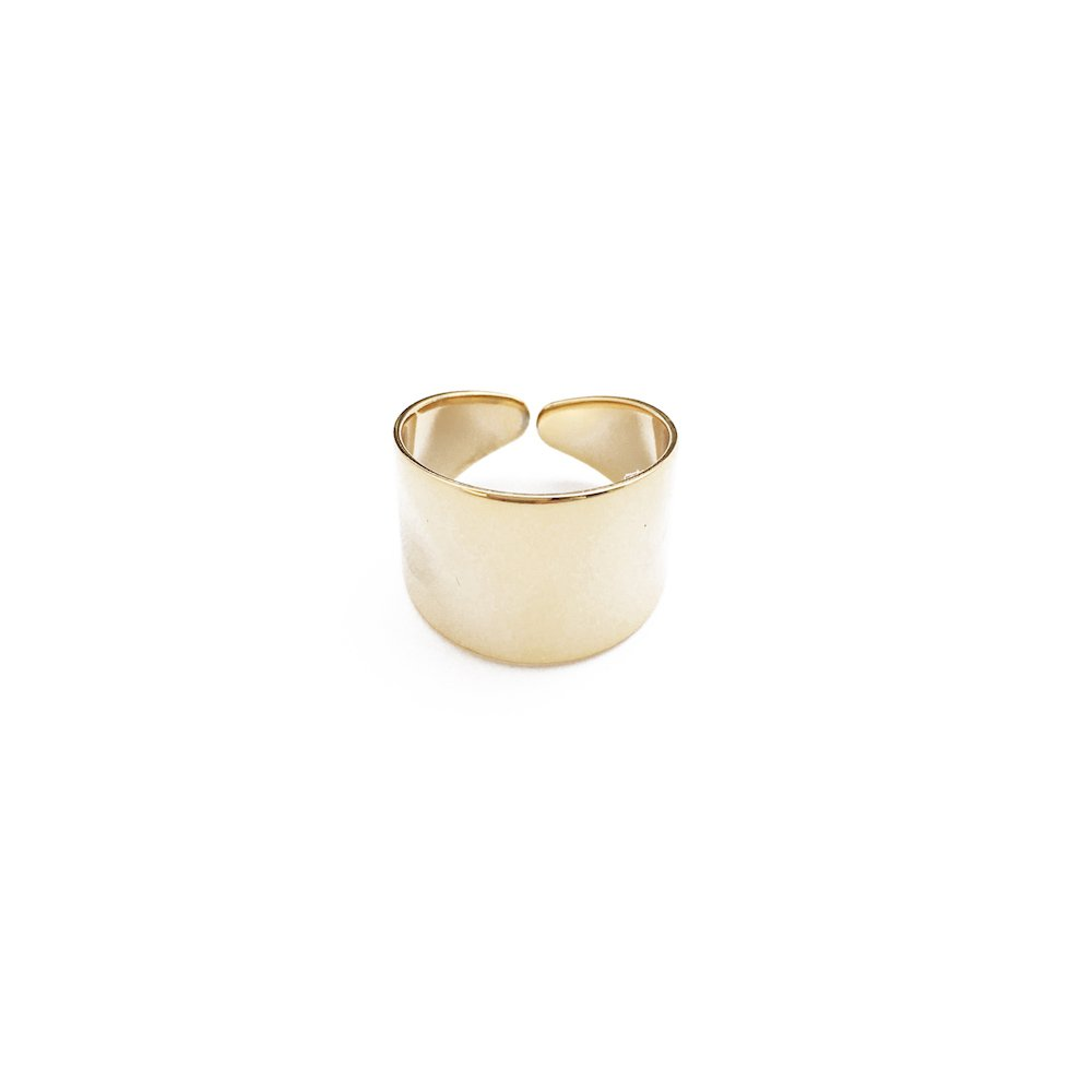 HONEYCAT Thick Wrap Open Band Ring | Minimalist, Delicate Jewelry (Gold)