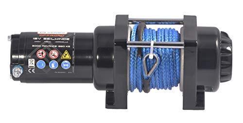 Kunststoffseil//Synthetikseil // 2720 kg mit Umlenkrolle Power Series/® 12V Elektrische Seilwinde 3000 Advance mit Funkfernbedienung und Handschalter Zugkraft 1360 kg
