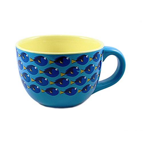 Silver Buffalo NM1124 Disney Pixar Finding Dory All Over Dory Print Ceramic Soup Mug, 24-Ounces (Soup Mug Ceramic)