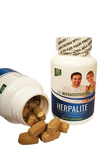 HERPALITE – Cold Sore Supplement – All Natural Ingredients – No Side Effects – Safe For The Whole Family – High Potency Lysine