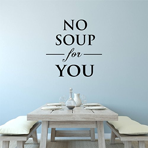 kiskistonite Funny Kitchen Wall Decal Quote Kitchen Decor Wall Sticker Seinfeld Decor Krama Quote Vinyl Wall Decal Quote Seinfeld Gift No Soup for You 57cm (22.4