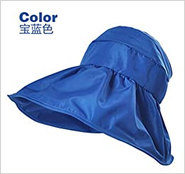 2e4d4925923 Amazon.com  Summer Korean Style Topless Foldable UV Women Sun Beach Hats  Anti Sun UV Color Blue (6953100556271)  Books