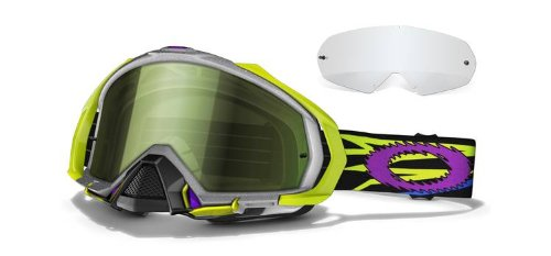 Oakley Mayhem MX Goggles (Silver, One Size)
