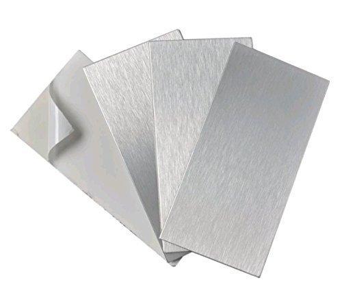 Cré dence cuisine auto-adhé sive acier inoxydable carrelage dosseret cuisine l.7, 5 x L.15 cm é paisseur 4 mm 5 x L.15 cm épaisseur 4 mm 3d