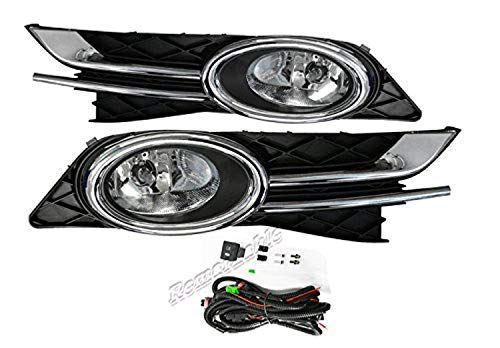 (Remarkable Power FL7163 Fit For 14-16 Honda Odyssey Clear Fog Lights Bumper Lamps Front Left & Right W/Wiring Switch)