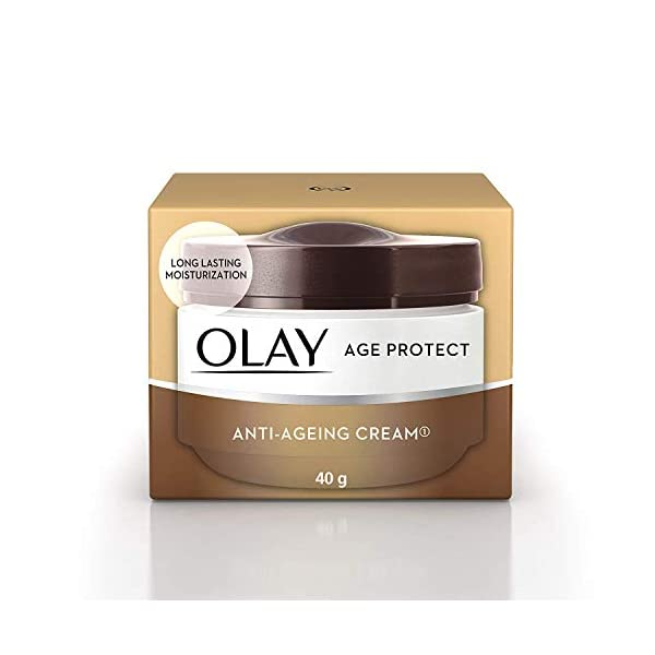 Olay Age Protect Anti - Ageing Cream 40g 2021 July Reduces wrinkles Lighten dark spots Improve skin tone