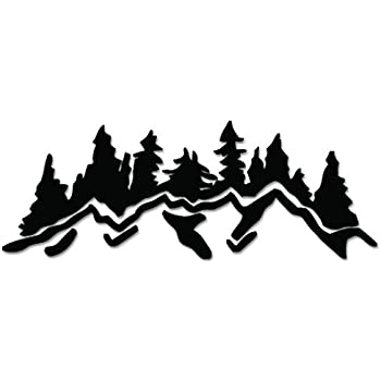 Amazon Com Forest Mountain Trees Vinyl Decal Sticker For