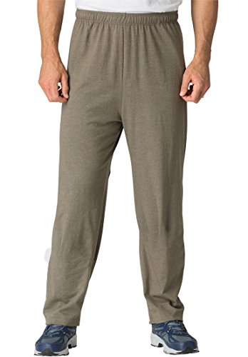 Kingsize Mens Lightweight Open Bottom Sweats