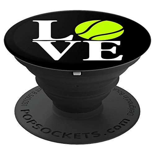 I Love Tennis! Sports Gift - PopSockets Grip and Stand for Phones and Tablets