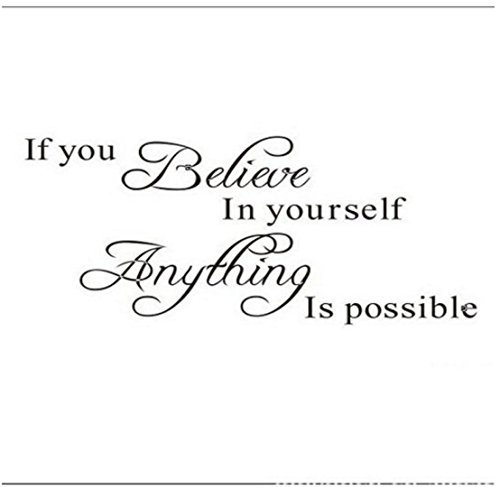 Cheap  Decalgeek If You Believe in Yourself Anything Is Possible Removable Wall Decal..