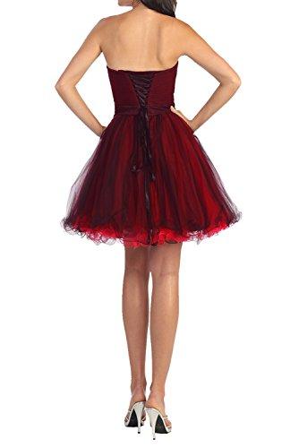Partykleider Dunkel Lila Braut Mini mia Abendkleider Promkleider Tanzenkleider Kurzes Cocktailkleider La Dunkel Fuchsia HR6qn61