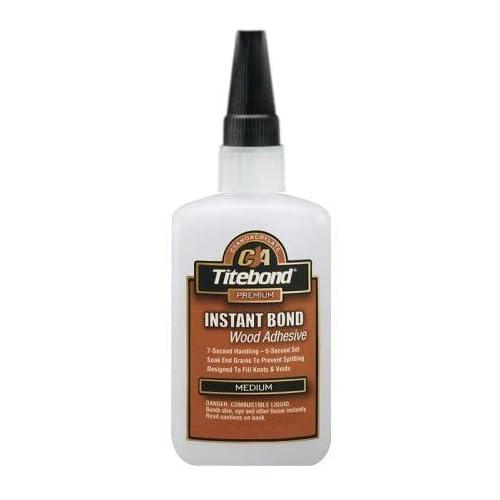 10 Pack Franklin 6212 Titebond Instant Bond Medium Wood Adhesive - 4-oz Bottle