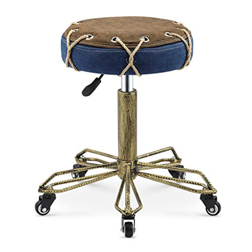 - ZHAOYONGLI-Stools Footstools Rotating Height Adjustable Padded Stool Family Life Furniture Accessories with Roller Massage Stool (Color : C)