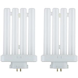 Sunlite FML27/65K/2PK Compact Fluorescent 27W Quad Tube Light Bulbs, 6500K Daylight Like Light, GX10Q-4 Base, 2 Pack
