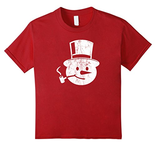 Kids Frosty Snowman T-Shirt Corn Cob Pipe and Top Hat 4 C...
