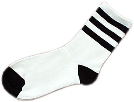 MoGist Mujer Zapatillas Calcetines Fácil clásica Negra Rayas Blancas otoño Invierno Medio Larga algodón Transpirable Medio Larga Calcetines Blanco: Amazon.es: Hogar