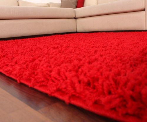 Paco Home Shaggy Hochflor Langflor Teppich Sky Sky Sky Einfarbig in Rot, Grösse 190x280 cm B00FC7SLUW Teppiche c4a13c