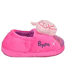 Peppa Pig Oink Girls Toddler Slipper (7/8 toddler, Fuchsia)