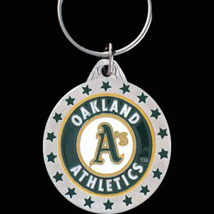 Oakland Athletics MLB Enameled Key Chain ()
