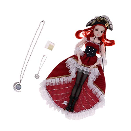 CUTICATE 12 inch Tarot Wheel of Fortune BJD Girl 1/6 Scale 14 Ball Jointed Doll Full Set, Includes Costume & Wig Accessories | Best Birthday Gift for Girls -
