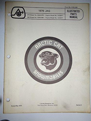 - 1976 Arctic Cat 275 340 Jag Snowmobile Parts List Book Catalog Manual 0185-068