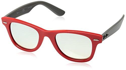 Ray-Ban Junior Kids' 0rj9066s7040b847junior Wayfarer Non-Polarized Iridium Square Sunglasses, Coral, 47 - Wayfarer Ray Pink Ban