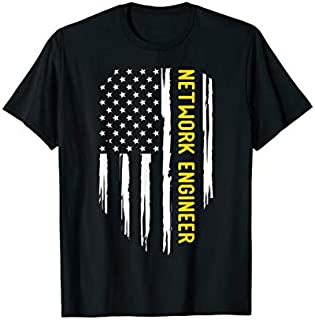 Funny American Network Engineer  - US FLAG T-shirt | Size S - 5XL
