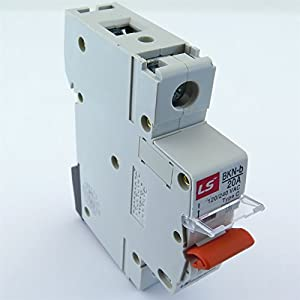 BKN-b-1P-C20A LS MINIATURE DIN RAIL MOUNT. 1 Pole UL 1077 CIRCUIT BREAKER C Curve, 20A 120/240V