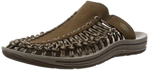 (KEEN Men's UNEEK Slide Sandal, Dark Earth//Brindle, 11.5 M US)